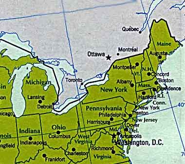 Janees Traveltales Summer - Northeastern usa map